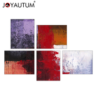 European style living room decorative painting combination painting simple handmade oil painting five abstract paintings