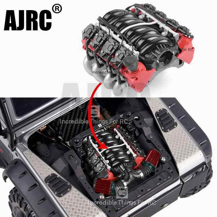 GRC LS7 Simulation V8 Engine Cover Motor Cooling Fan Radiator For TRX-4