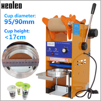 Xeoleo SemiAutomatic Cup sealer Bubble tea machine Cup sealing machine for 9\/9.5cm Paper\/PE Cup with Temperature adjust US\/EU\/UK