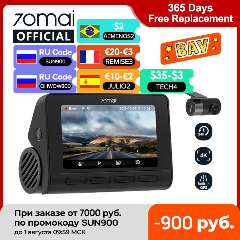 70mai Smart Dash Cam 4K A800 Built in GPS ADAS 70mai Real 4K Car DVR UHD Cinema quality Image 24H Parking SONY IMX415 140FOV DVR/Dash Camera  - AliExpress