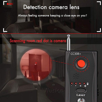 Mini Anti Spy Hidden Camera Detector CC308+ Anti Candid Espia Camera Wifi RF Laser Audio Signal Bug Spy Device GSM Device Finder 3