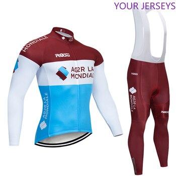 Ag2r-Conjunto de Ropa de Ciclismo para hombre conjunto de JERSEY y pantalones...