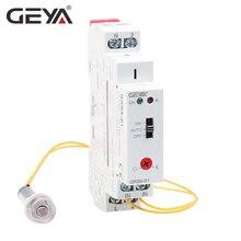 Free Shipping GEYA GRB8-01 Din rail Twilight Switch Photoelectric Timer Light Sensor Relay AC110V-240V Auto ON OFF