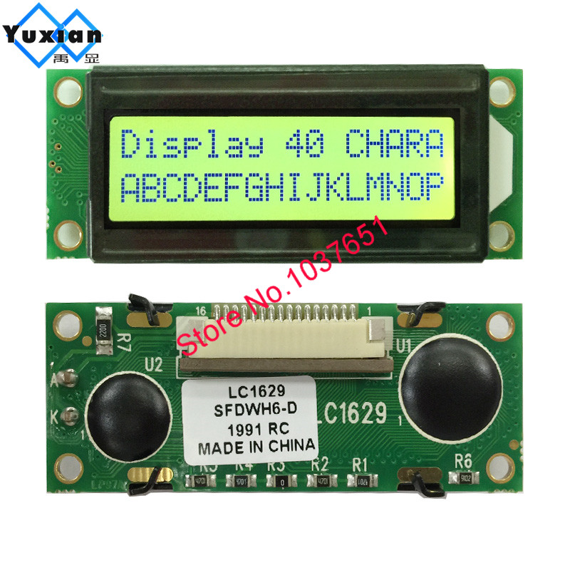 2pcs HD44780 16x2 LCD w//black text on yellow background ***FREE SHIPPING***