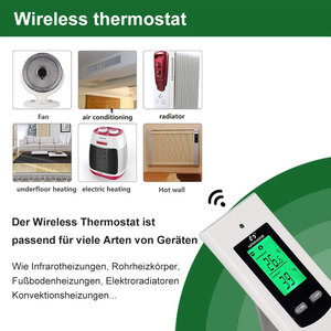Image 2 - Nashone Thermostat Digital Temperatur Control Wireless Thermostat 220V LCD Display Temperature Controller socket with thermostat