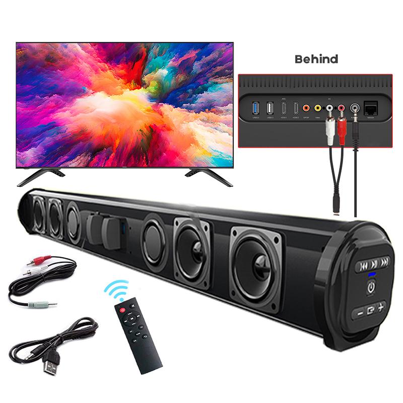 Wireless Bluetooth Sound Bar Speaker System Super Power Sound Speaker Wired Wireless Surround Stereo Home Theater TV Projector