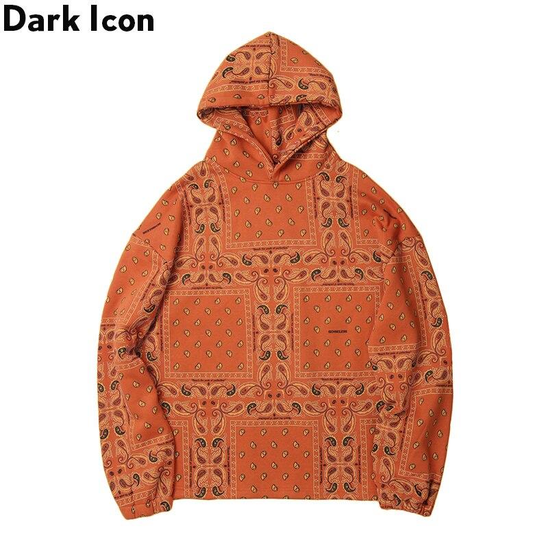 Dark Icon Bandana Fleece Hoodie Men 2019 Winter Hip Hop Hoodies Pullover Sweatshirts And Hoodies  Man Streetwear