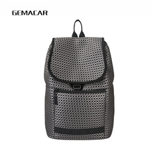 Fashion Unisex Large Capacity Backpack Breathable Young Men And Women Students High Quality Trend Bag Woven Gray