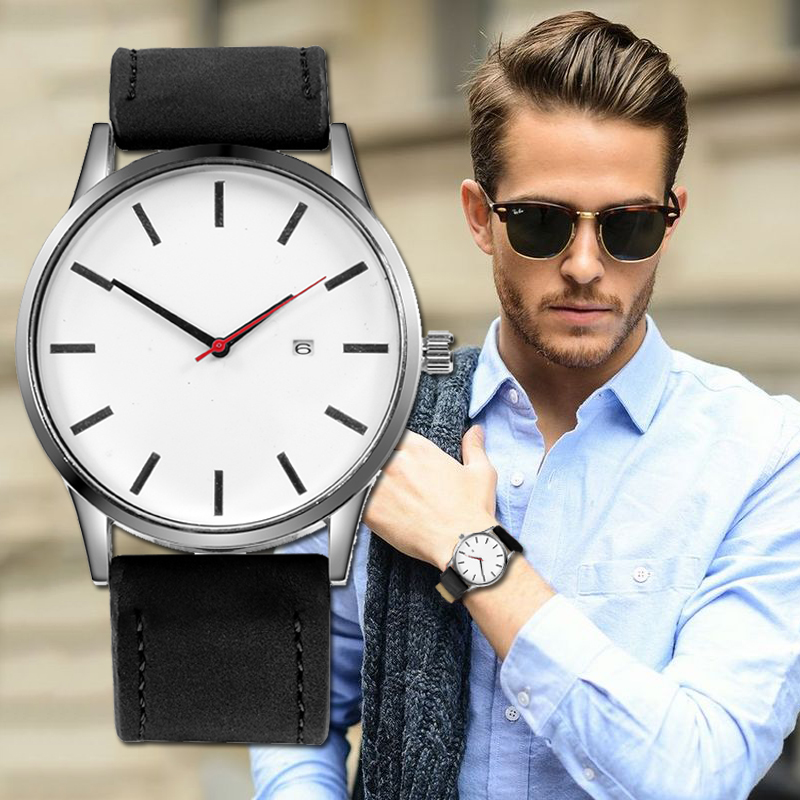 Relojes Hombre 2019 Top Brand Luxury Men's Watch 2019 Fashion Watch Men Sport Watches For MensLeather Relogio Masculino