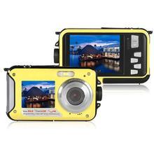 цена на DishyKooker 1080P Full HD Waterproof Digital Camera Underwater Camera 24 MP Video Recorder Selfie Dual Screen DV Recording