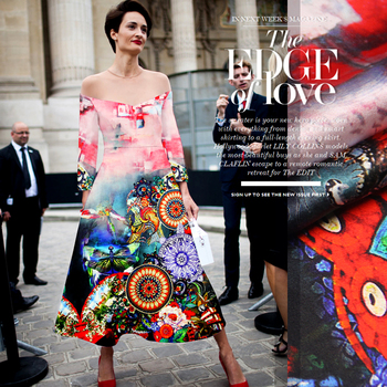 PRINTED SILK STRETCH SATIN 118cm width 19momme 100% Silk Fabric For Women Summer Dress Positioning Printing MOQ 1.1M