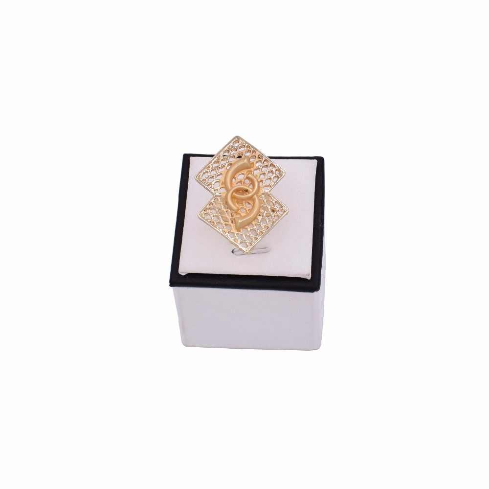 Новые Изысканные Дубаи золотые комплекты больших украшений нигерийские Свадебные Женские аксессуары ювелирные изделия африканские бусины набор украшений для женщин