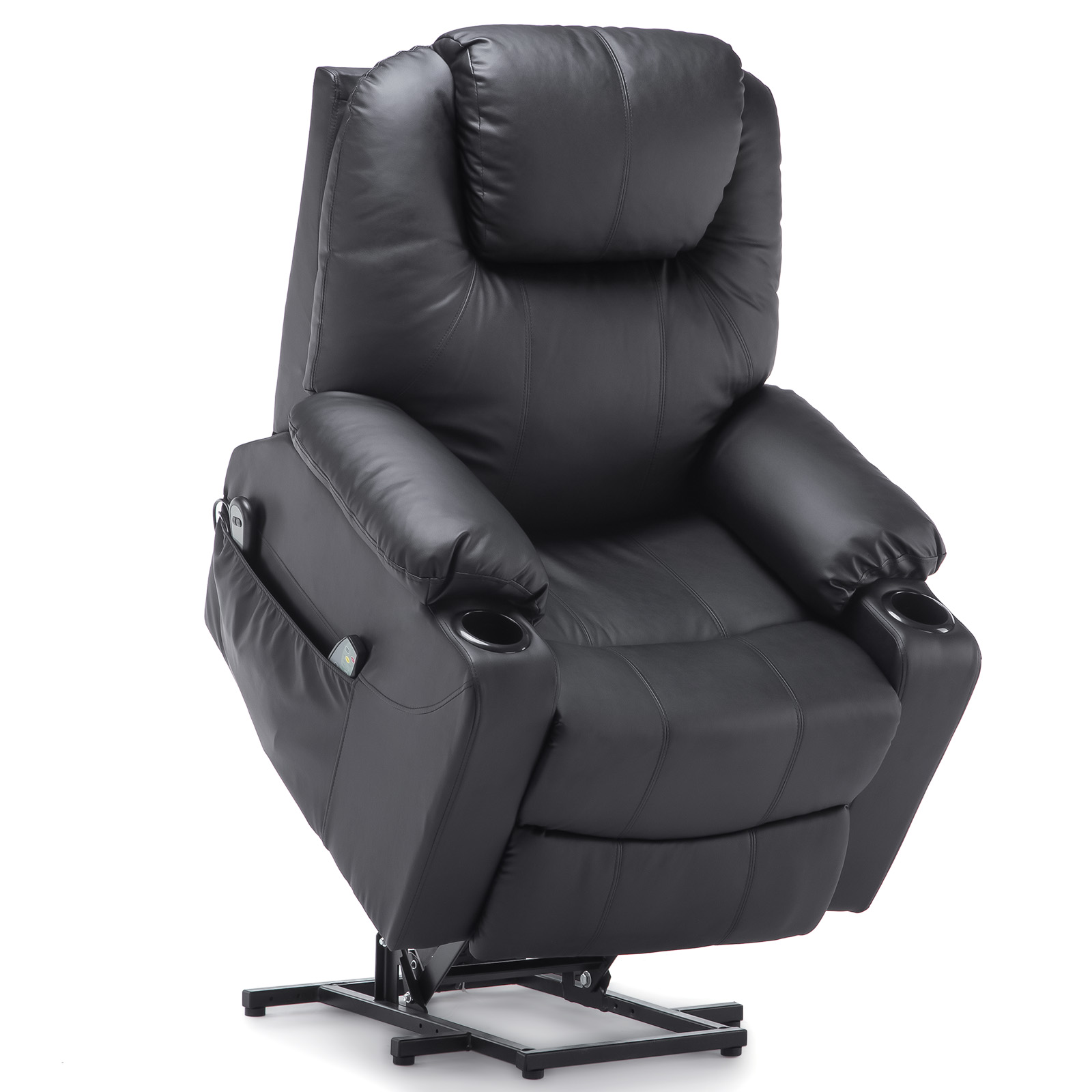2021 Upgraded Electric Massage Chair Power Lift Recliner Chairs Leisure Soft Sofa Full Body Shiatsu Lounge Armchair for Elderly 8