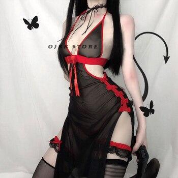 Womens Devil Cosplay Lingerie Lolita Vintage Vampire