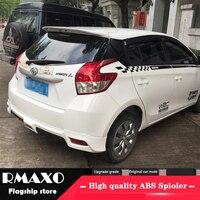 Für TOYOTA Yaris Spoiler 2014-2016 Hohe Qualität TOYOTA Yaris ABS Material Auto Hinten Flügel Primer Farbe Heckspoiler