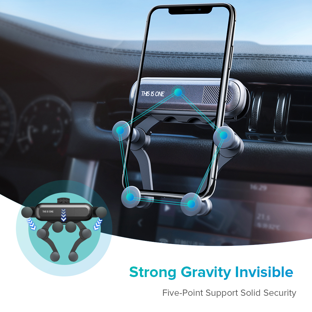Image 4 - GTWIN Gravity Car Holder For Phone in Car Air Vent Clip Mount No Magnetic Mobile Phone Holder GPS Stand For iPhone Xiaomi Huawei-in Phone Holders & Stands from Cellphones & Telecommunications on