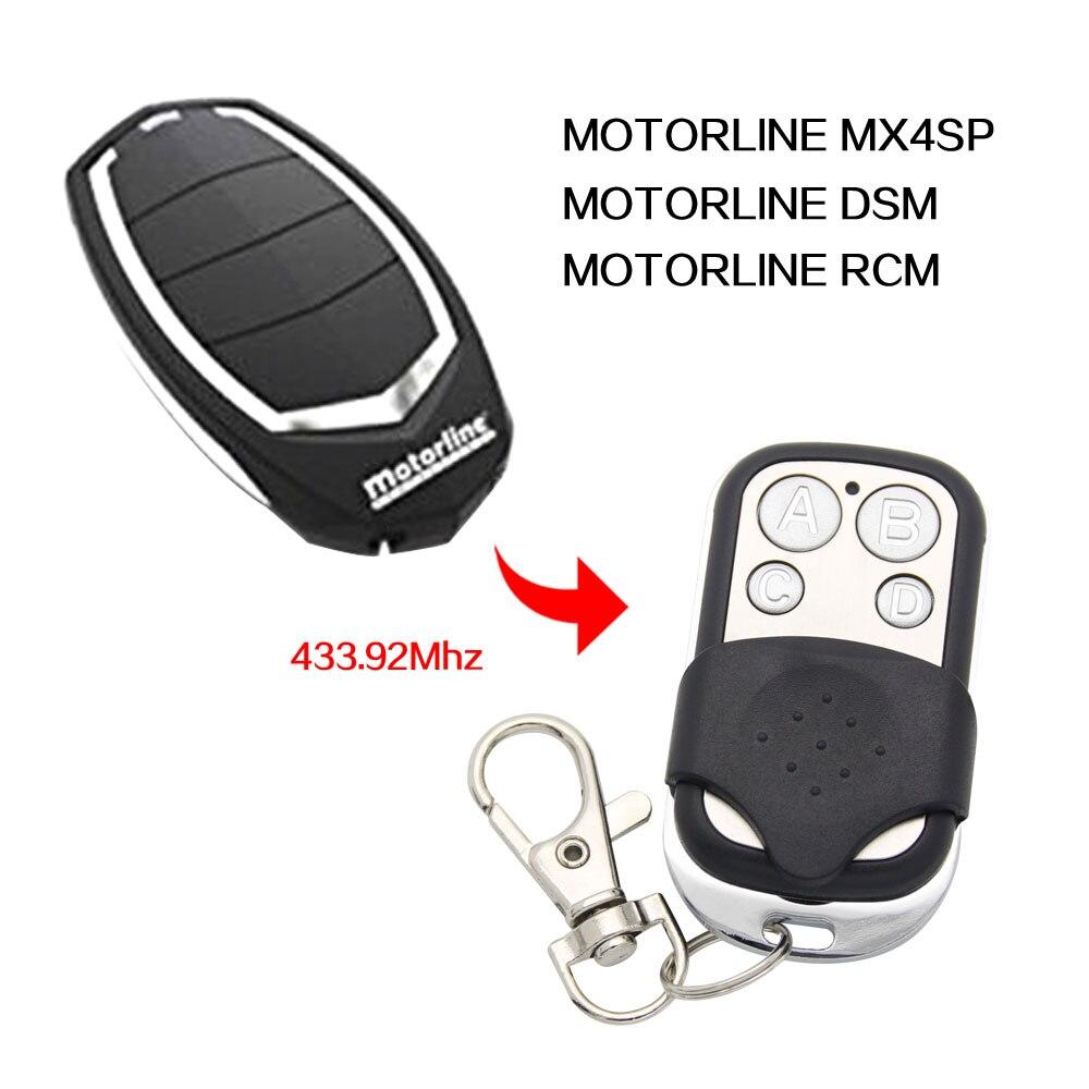 Дистанционное управление MOTORLINE RCM MX4SP DSM, 433 копировальный аппарат mhz, гаражные ворота, моторные ворота, 433,92 МГц, дистанционное управление, ler Key
