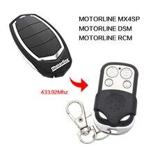 Motorline rcm mx4sp dsm controle remoto 433mhz duplicador porta da garagem motorline 433.92mhz controle remoto chave