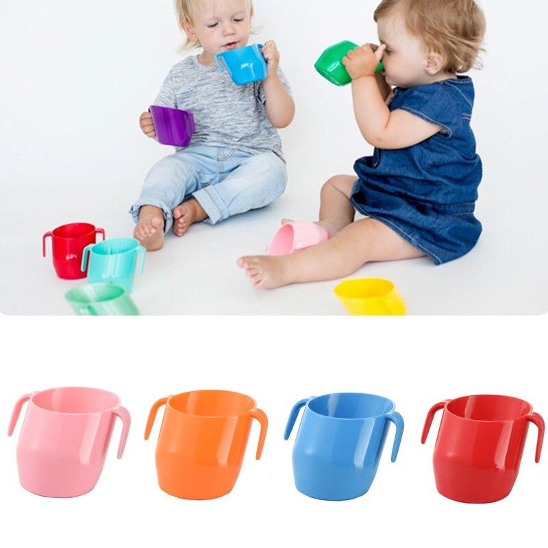 Copo oblíquo da boca da isolação do bebê à prova de vazamento aprendizagem infantil copos bebendo tombo resistente copos bebendo do bebê para crianças do bebê