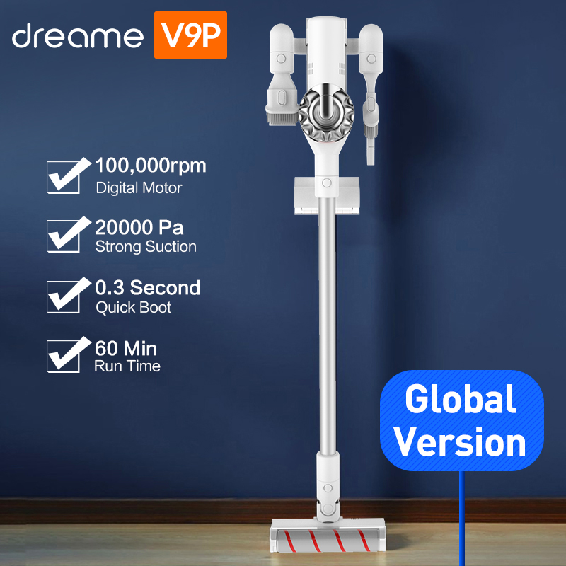 Dreame V9P Handheld Cordless Vacuum Cleaner Protable Wireless Cyclone 120AW Strong Suction Carpet Dust Collector for