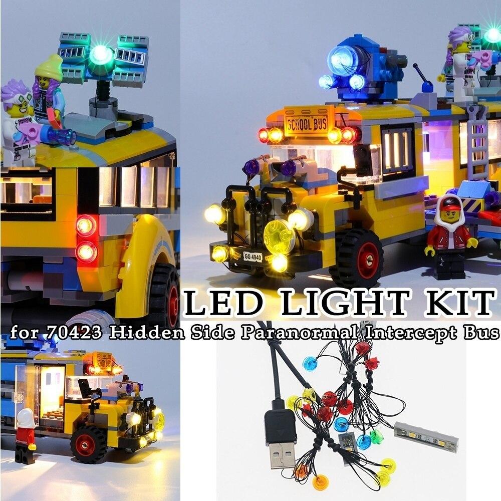LED Light Kit For 70423 Hidden Side Paranormal Intercept Bus 3000 Decoration Moc Building Blocks Toys Bricks Decorative Lights