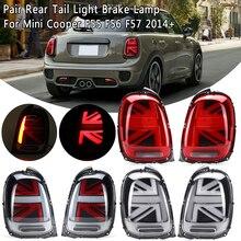 2 шт. Автомобильный задний светильник, универсальный для Mini Cooper F55 F56 F57+ светодиодный W/лампа заднего хода, задний противотуманный светильник
