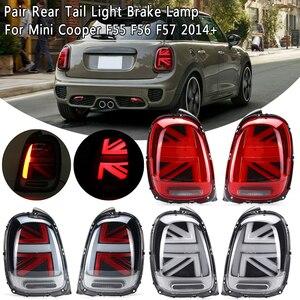 Image 1 - 2PCS Car Tail light Universal For Mini Cooper F55 F56 F57 2014 2015 2016 2017 2018+ LED W/ Bulb Rear Reverse Lamp Tail Fog light