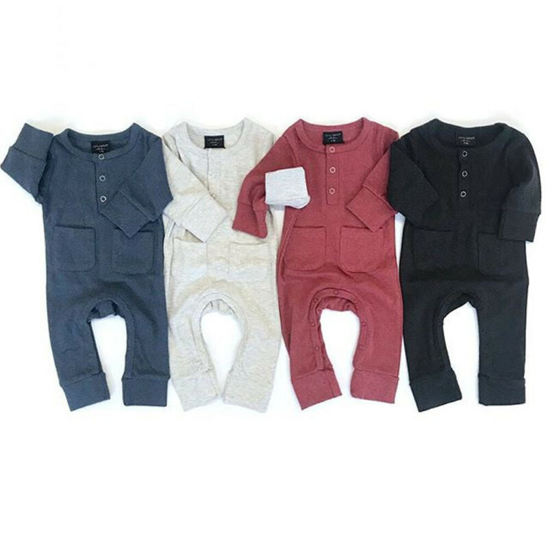 Baby Romper 2020  Infant Baby Boy Girl Knitted Long Sleeve Solid Romper Jumpsuit Winter Clothes Outfits