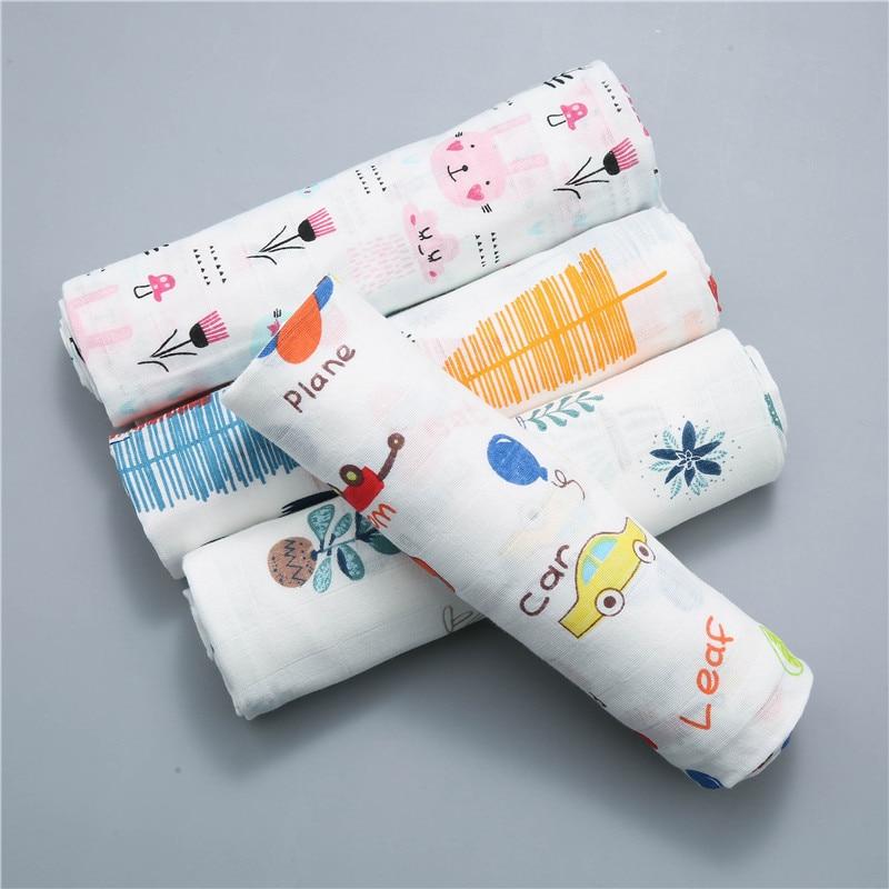 120x110cm Swaddle Baby Muslin Blanket Baby Swaddling Blankets Baby