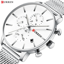 CURREN Men Luxury Business Quartz Military Watch Fashion Stainless Steel Band Wrist Watches Clock Date Relogio Dropshipping все цены