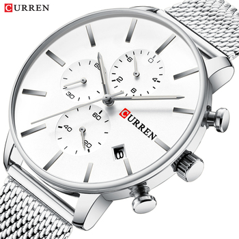 CURREN Men Luxury Business Quartz Military Watch Fashion Stainless Steel Band Wrist Watches Clock Date Relogio Dropshipping - discount item  50% OFF Men's Watches
