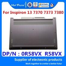 Neue original Laptop Unteren Basis Bottom Cover Assembly für Dell Inspiron 13 7370 7373 7380 Silber 0R58VX R58VX 460.0B605.005