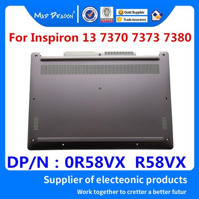 new original Laptop Bottom Base Bottom Cover Assembly for Dell Inspiron 13 7370 7373 7380 Silver 0R58VX R58VX 460.0B605.005