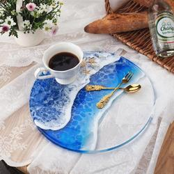 DIY Coaster Resin Molds Round Rectangle Handle Tray Crystal UV Epoxy Slicone Home Decoration Resin Crafts
