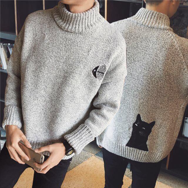 Японский стиль, модный свитер для мальчиков, пуловеры, дизайн Simwood, корейский стиль, повседневный мужской свитер с круглым вырезом, Рождеств...