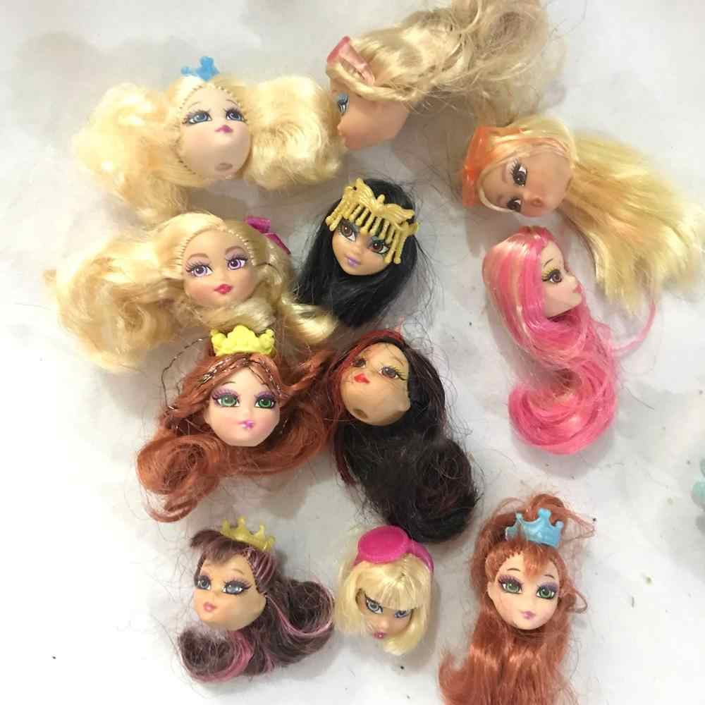5pcs Foreign Trade Original Super hero girl Heads For BJD Dolls DIY Gift Mix-Style Female Doll Head