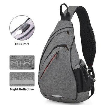 Mixi Men One Shoulder Backpack Women Sling Bag USB Boys   4