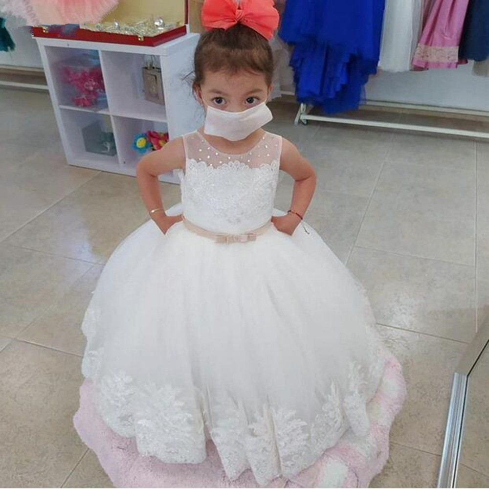 «Closeout DealsDresses Wedding Pageant-Gown Lace Flower-Girl First-Communion White Kids
