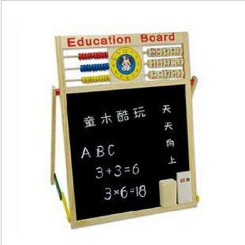 Children Double-side Blackboard Whiteboard Drawing Board Hx01 Multi-functional Magnetic Drawing Board Infants Teaching Aids 1.05