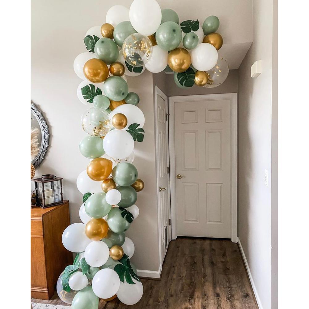89 штук игр тема джунгли вечерние украшения Воздушные шары гирлянда арочный комплект зеленый Lalex шар для детей 1st День рождения Детские душев...