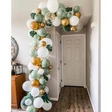 89 pçs selva tema festa decoração balão guirlanda arco kit verde lalex balão para crianças 1st festa de aniversário chuveiro do bebê decorações