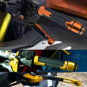 Image 5 - 오토바이 액세서리 조정 가능한 브레이크 클러치 레버 핸들 핸들 바 그립 BMW G310R G 310 GG 2017 2018G 310R 로고 포함