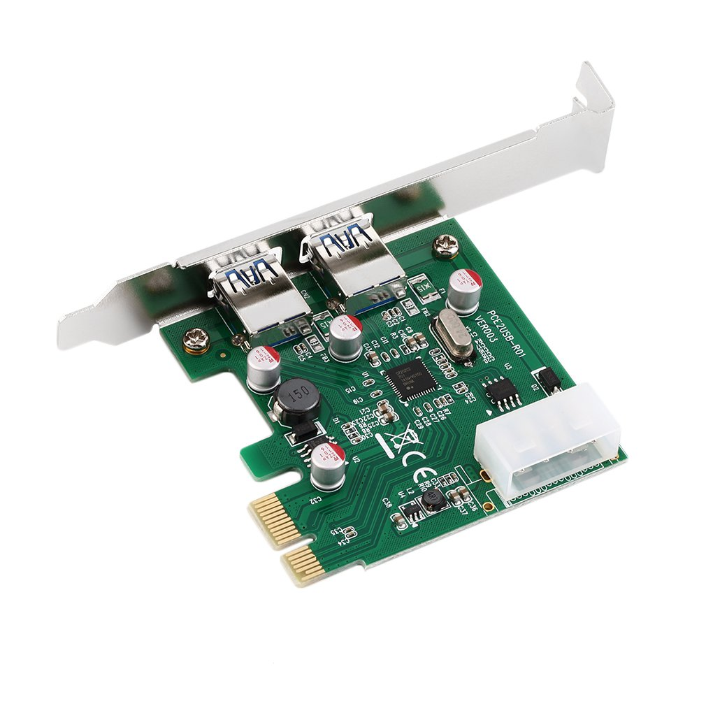 New PCI-E PCI Express 2 Port USB 3.0 Card Adapter W/ USB 3.0 Front PanelTech Hot Promotion