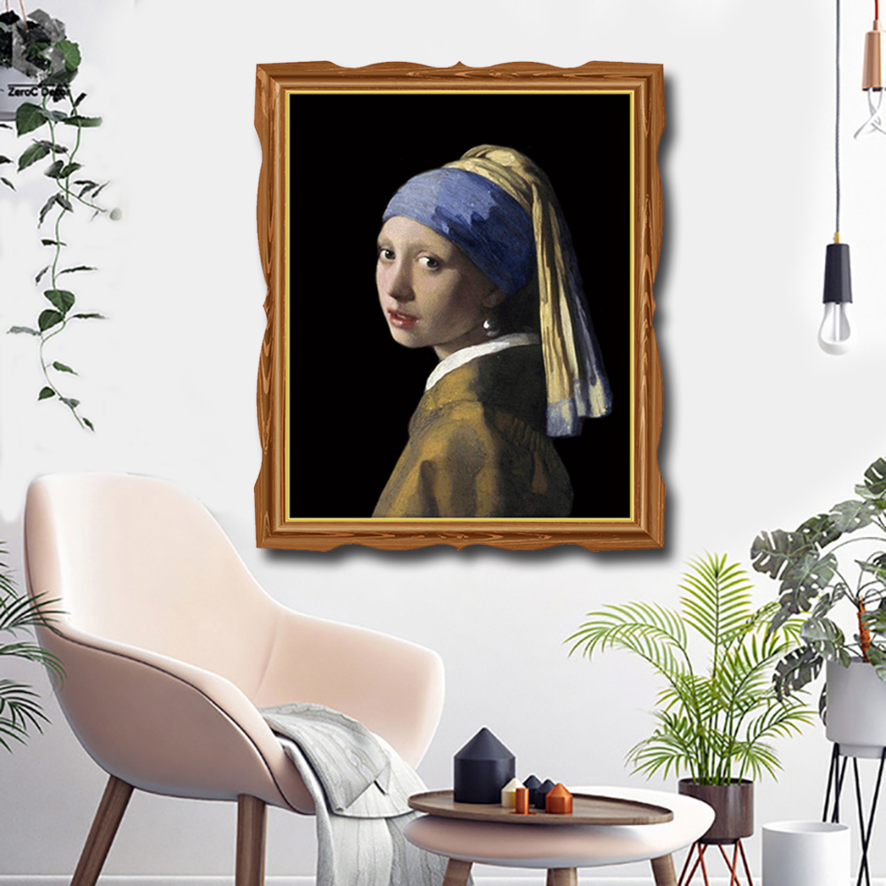 The Girl with The Pearl Poster Prints Art Canvas Painting Calligraphy Decoration Picture For Living Room Bedroom Home Wall Art in Painting Calligraphy from Home Garden