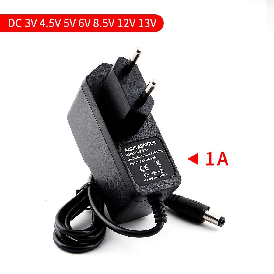 5/5/3/4.5/6/8 v 1a adaptador de alimentação para lâmpada de luz de tira led 5 v adaptador de alimentação universal eua ue plugue do adaptador dc 12/13.