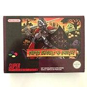 Super ghoulsn ghosts com caixa de cartucho de jogo 16bit versão ue para console pal