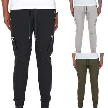 2021 dorywczo spodnie męskie spodnie bojówki spodnie dresowe do biegania spodnie z elastycznym pasem odzież sportowa spodnie dresowe męskie spodnie spodnie tanie i dobre opinie ISHOWTIENDA Cztery pory roku Szerokie spodnie CN (pochodzenie) POLIESTER COTTON Linen CASUAL Na co dzień HIGH Mieszkanie