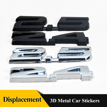 1PCS 2.4 2.5 3D metal car Displacement emblem sticker rear Trunk badge Car styling For Honda Accord CIVIC CITY FIT CRV ODYSSEY metal 3d car feder trunk sticker vtec logo badge decal chrome accessories for honda civic accord odyssey spirior crv car styling