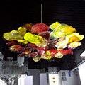 Decorative Hand Blown Glass Flower Chandelier Light Italian Murano Glass Ceiling Chandelier Lamps