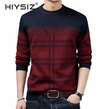 HIYSIZ Brand 2019 New Streetwear Pull Homme Men's Sweater O-neck Cotton Casual British Style Sweater Men Autumn Winter H3024